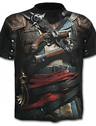 baratos -Homens Camiseta Básico Geométrica