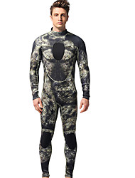 cheap -MYLEDI Men's Full Wetsuit 3mm Neoprene Diving Suit Thermal / Warm Long Sleeve - Swimming / Diving Back Zipper / Patchwork Spring / Summer