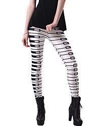 cheap -Women's Daily Sporty Legging - Striped / Geometric / Color Block Mid Waist