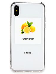Недорогие -Кейс для Назначение Apple iPhone X / iPhone 8 Ультратонкий Кейс на заднюю панель Композиция с логотипом Apple / Фрукты Мягкий ТПУ для iPhone X / iPhone 8 Pluss / iPhone 8