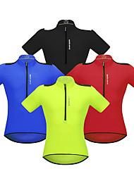 economico -WOSAWE Manica corta Maglia da ciclismo - Rosso / Verde / Blu Bicicletta Maglietta / Maglia, Strisce riflettenti