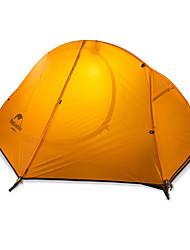 abordables -Naturehike 1 Persona Tiendas de Campaña para Senderismo Doble Capa Palo Domótica Carpa para camping Al aire libre Resistente a la lluvia, Mantiene abrigado, Plegable para Camping y senderismo / Caza
