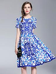 cheap -SHIHUATANG Women's Boho / Street chic A Line Dress - Paisley Print