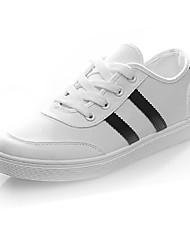 Недорогие -Жен. Обувь Полотно Осень Удобная обувь Кеды На плоской подошве Белый / Черный