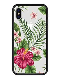 Недорогие -Кейс для Назначение Apple iPhone X / iPhone 8 Plus С узором Кейс на заднюю панель Растения / Мультипликация / Цветы Твердый Акрил для iPhone X / iPhone 8 Pluss / iPhone 8