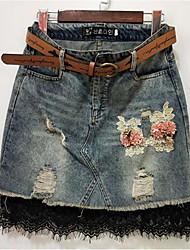 cheap -Women's Going out Bodycon Skirts - Floral High Waist