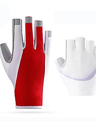 abordables -ROCKBROS Demi-doigt Unisexe Gants de moto Boas et Plumes / Tissu en tulle Avion-école / Respirable / Antidérapant