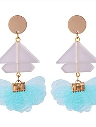 cheap -Women's Drop Earrings - Stylish Green / Blue / Pink For Going out / Birthday