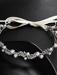 baratos -Liga Headbands com Cristais / Pérolas 1 Peça Casamento / Roupa Diária Capacete