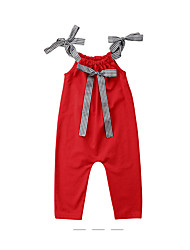 cheap -Kids Girls' Solid Colored Sleeveless Overall & Jumpsuit