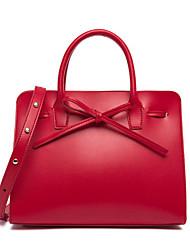 cheap -Women's Bags PU(Polyurethane) Tote Zipper Dark Blue / Almond / Brown