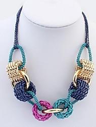 Недорогие -Жен. Толстая цепь Ожерелья с подвесками Дамы Стиль Художественный Классика Цвет радуги 55 cm Ожерелье Бижутерия 1шт Назначение Повседневные
