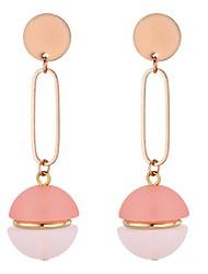 cheap -Women's Long Drop Earrings - Fashion Black / Yellow / Pink For Party / Evening / School