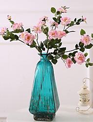 baratos -Flores artificiais 3 Ramo Clássico / Solteiro (L150 cm x C200 cm) Casamento / buquês de Noiva Rosas / Flores eternas Flor de Mesa