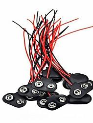 abordables -20 pcs 9 volts batterie pince connecteur batterie connecteurs de câble