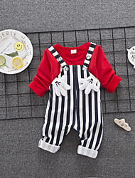 cheap -Baby Unisex Black & Red Solid Colored / Geometric Short Sleeve Clothing Set