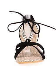 povoljno -Žene Cipele PU Ljeto Udobne cipele Sandale Ravna potpetica Crn