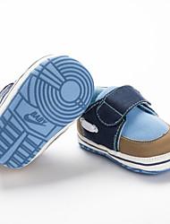 preiswerte -Jungen Schuhe Leinwand Frühling & Herbst Lauflern Sneakers Klettverschluss für Baby Orange / Rot / Blau