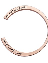 cheap -Women's Single Strand Cuff Bracelet - Letter Cute Bracelet Gold / Silver / Rose Gold For Formal / Date