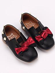 abordables -Chica Zapatos PU Primavera verano Confort Bailarinas Paseo Pajarita / Perla de Imitación para Niños Negro / Beige / Rosa