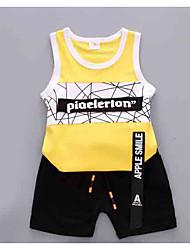 cheap -Baby Unisex Striped / Color Block Sleeveless Clothing Set