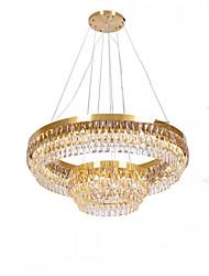 Недорогие -QIHengZhaoMing 2-Light Кристаллы Люстры и лампы Рассеянное освещение 110-120Вольт / 220-240Вольт, Теплый белый, Лампочки включены