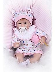 Недорогие -NPKCOLLECTION NPK DOLL Куклы реборн Девочки 18 дюймовый Новорожденный Подарок Искусственная имплантация Коричневые глаза Детские Девочки Игрушки Подарок