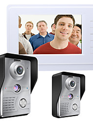 baratos -MOUNTAINONE SY819MKW21 7 Inch Video Door Phone 7 polegada Mãos Livres 700 TV Line Interfone de Vídeo Um para Um