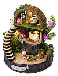 Недорогие -Кукольный домик утонченный / Музыка и свет Цветы / Романтика 1 pcs Куски Для подростков Подарок