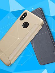 billiga -Nillkin fodral Till Xiaomi Mi 8 / Mi 8 SE Lucka / Frostat Fodral Enfärgad Hårt PU läder för Xiaomi Redmi S2 / Xiaomi Mi Mix 2S / Xiaomi Mi 8