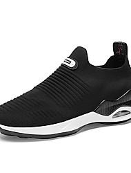 abordables -Homme Chaussures Tricot Printemps Confort Mocassins et Chaussons+D6148 Blanc / Noir / Gris