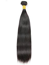 baratos -1 pacote Cabelo Brasileiro Liso 8A Cabelo Humano Extensões de Cabelo Natural 8-28 polegada Côr Natural Tramas de cabelo humano Fabrico à Máquina extensão Extensões de cabelo humano Todos