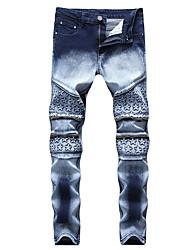 cheap -Men's Active / Basic Jeans Pants - Geometric