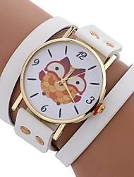 cheap -Xu™ Women's Bracelet Watch / Wrist Watch Chinese Creative / Casual Watch / Large Dial PU Band Casual / Fashion Black / White / Red / One Year