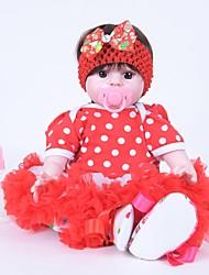 baratos -FeelWind Bonecas Reborn Bebês Meninas 20 polegada realista, Olhos Castanhos de Implantação Artificial de Criança Para Meninas Dom
