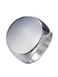 Недорогие -Муж. Кольцо - Серебрянное покрытие, Позолота Простой, европейский, Мода Золотой / Серебряный Назначение Карнавал / Маскарад