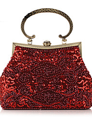 cheap -Women's Bags Polyester Evening Bag Beading / Sequin Gray / Almond / Coffee
