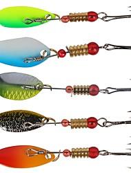 baratos -6 pcs Colheres / Kits de Pesca Isco Duro / Colheres Plástico / Aço de Carbono / Aço Inoxidável / Ferro Pesca de Mar / Isco de Arremesso / Pesca no Gelo / Pesca de Água Doce / Pesca de Carpa