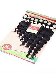 cheap -Weft / Hair weave Human Hair Extensions Curly Human Hair Brazilian Hair / Deep Wave 8pcs Women's Party / Evening / Masquerade / Date
