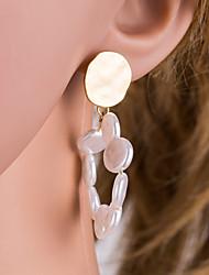 economico -Per donna Orecchini a cerchio - Perla, Perla d'acqua dolce Coreano, Dolce, Elegante Bianco Per Quotidiano / Evento