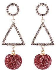 cheap -Women's Crystal Long Drop Earrings - Vintage, Ethnic, Fashion White / Black / Red For Going out / Birthday