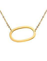Недорогие -Муж. Длиные имя Ожерелья с подвесками Нержавеющая сталь Алфавит Мода Золотой Черный Серебряный 51 cm Ожерелье Бижутерия 1шт Назначение Подарок Повседневные