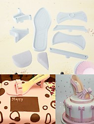 abordables -Outils de cuisson Aluminium Nouvelle arrivee / 3D / A Faire Soi-Même Pour Gâteau / Soirée / Anniversaire Moules à gâteaux 7pcs