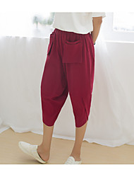 cheap -Women's Cotton Loose Harem / Shorts Pants - Solid Colored / Summer