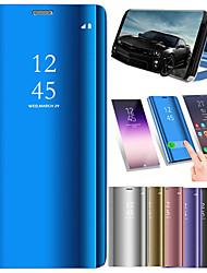 abordables -Funda Para Xiaomi Mi 8 / Mi 8 SE con Soporte / Cromado / Espejo Funda de Cuerpo Entero Un Color Dura Cuero de PU para Xiaomi Mi 8 / Xiaomi Mi 8 SE