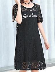 cheap -women's shift dress lace knee-length