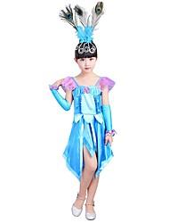 cheap -Princess Costume Girls' Halloween / Carnival / Children's Day Festival / Holiday Halloween Costumes Cyan Solid Colored / Halloween Halloween