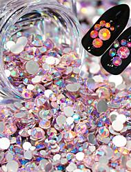 baratos -1 pcs Jóias de Unhas Luminoso arte de unha Manicure e pedicure Casamento / Festa de Casamento / Roupa Diária Metálico / Brilho & Glitter