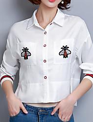 Недорогие -Жен. Вышивка Рубашка Классический Животное