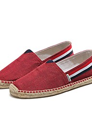 cheap -Men's Canvas Summer Comfort Loafers & Slip-Ons Red / Blue / Khaki